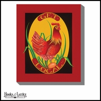 Get Local Country Rooster - Canvas Artwork