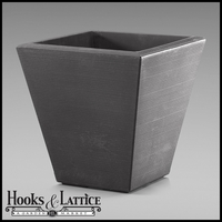 Glendon 16in. Tapered Square Planter - Antique Bronze