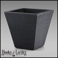 Glendon 16in. Tapered Square Planter - Caviar Black