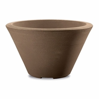 Glendon 16in. Tapered Round Planter - Mocha