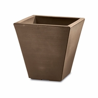 Glendon 16in. Tapered Square Planter - Mocha