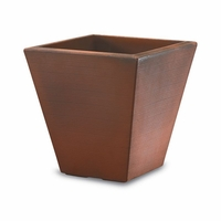 Glendon 20in. Tapered Square Planter - Rust