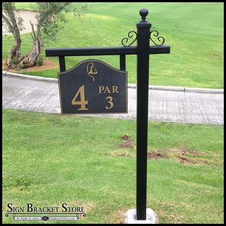 Golf Tee Box Marker Post