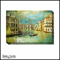 Gondola Ride Down the Canal - Canvas Artwork
