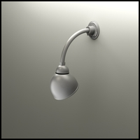 "Gooseneck Light - 10""L x 3/4"" Dia Arm - 7"" Domed Shade"