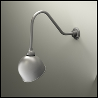 "Gooseneck Light - 22-1/4""L x 1/2"" Dia Arm -  10"" Domed Shade"