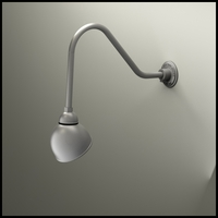 "Gooseneck Light - 22-1/4""L x 1/2"" Dia Arm -  7"" Domed Shade"