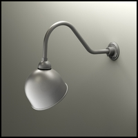 "Gooseneck Light - 22-1/4""L x 3/4"" Dia Arm - 10"" Domed Shade"