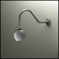 "Gooseneck Light - 22-1/4""L x 3/4"" Dia Arm - 7"" Domed Shade"