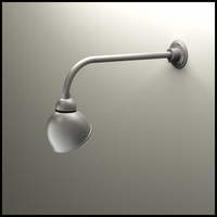 "Gooseneck Light - 23""L x 3/4"" Dia Arm - 7"" Domed Shade"