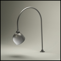 "Gooseneck Light - 27 1/2""L x 3/4"" Dia Arm - 10"" Domed Shade"