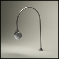 "Gooseneck Light - 27 1/2""L x 3/4"" Dia Arm - 7"" Domed Shade"