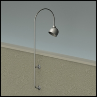 "Gooseneck Light - 27 1/4"" L x  3/4"" Dia Arm - 10"" Domed Shade"
