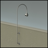 "Gooseneck Light - 27 1/4"" L x  3/4"" Dia Arm - 7"" Domed Shade"