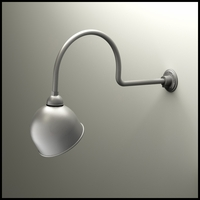 "Gooseneck Light - 29 3/4""L x 3/4"" Dia Arm - 10"" Domed Shade"