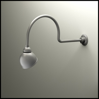 "Gooseneck Light - 29 3/4""L x 3/4"" Dia Arm - 7"" Domed Shade"