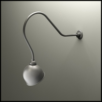 "Gooseneck Light - 32-1/4""L x 3/4"" Dia Arm - 10"" Domed Shade"