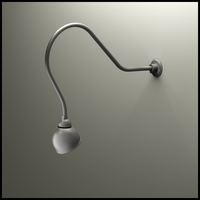 "Gooseneck Light - 32-1/4""L x 3/4"" Dia Arm - 7"" Domed Shade"