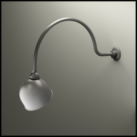 "Gooseneck Light - 34""L x 3/4""Dia. Arm - 10"" Domed Shade"