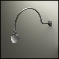 "Gooseneck Light - 34""L x 3/4""Dia. Arm - 7"" Domed Shade"