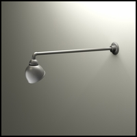 "Gooseneck Light - 37 1/2""L x 3/4"" Dia Arm - 7"" Domed Shade"
