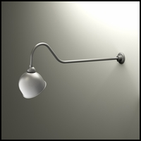 "Gooseneck Light - 48-1/4""L x 3/4"" Dia Arm - 10"" Domed Shade"