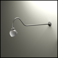 "Gooseneck Light - 48-1/4""L x 3/4"" Dia Arm - 7"" Domed Shade"