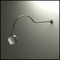 "Gooseneck Light - 54 1/4""L x 3/4"" Dia Arm - 10"" Domed Shade"