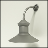 "Gooseneck Light Aluminum - 10"" x 3/4"" Dia. Arm with 16"" Barn Light Shade"