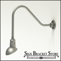 "Gooseneck Light Aluminum- 22-1/4""L x 1/2"" Dia. Arm with a 7"" Emblem Shade"