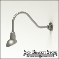 "Gooseneck Light Aluminum- 22-1/4""L x 3/4"" Dia. Arm with a 7"" Emblem Shade"