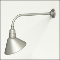 "Gooseneck Light Aluminum - 23"" W x 7.5"" H, Arm - with 12in. Angle Shade"