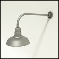 "Gooseneck Light Aluminum - 23"" W x 7.5"" H, Arm - with 12in. Warehouse Shade"