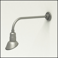 """Gooseneck Light Aluminum - 23"""" W x 7.5"""" H, Arm - with 7in. Angle Shade"""
