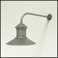 "Gooseneck Light Aluminum - 23"" x 3/4"" Dia. Arm with 16"" Barn Light Shade"