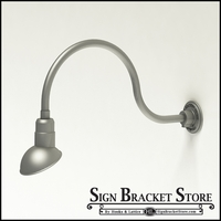 "Aluminum Gooseneck RLM Light -24-3/4 ""L x   3/4""  Dia. Arm with a 7"" Emblem Shade"