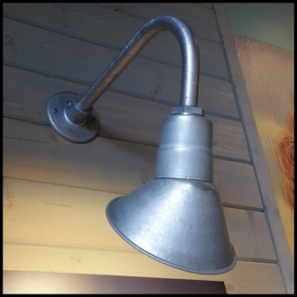 """Gooseneck Light Aluminum - 25.25"""" W x 39"""" H, Arm - with 10in. Angle Shade"""