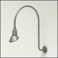 """Gooseneck Light Aluminum - 25.25"""" W x 30"""" H, Arm - with 7in. Angle Shade"""