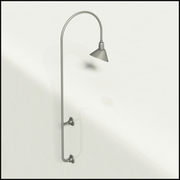 "Gooseneck Light Aluminum - 27.25"" W x 85"" H, Arm - with 12in. Angle Shade"