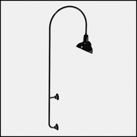 "Gooseneck Light Aluminum - 27.25"" W x 85"" H, Arm - with 12in. Emblem Shade"