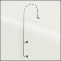 "Gooseneck Light Aluminum - 27.25"" W x 85"" H, Arm - with 7in. Emblem Shade"
