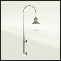 "Gooseneck Light Aluminum - 27.25"" x 3/4"" Dia. Arm with 16"" Barn Light Shade"