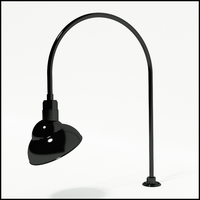 "Gooseneck Light Aluminum - 27.5"" W x 40.25"" H, Arm - with 12in. Emblem Shade"