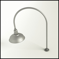"Gooseneck Light Aluminum - 27.5"" W x 40.25"" H, Arm - with 14in. Warehouse Shade"