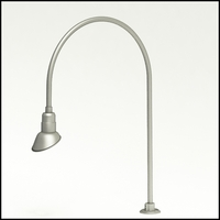 """Gooseneck Light Aluminum - 27.5"""" W x 40.25"""" H, Arm - with 7in. Angle Shade"""
