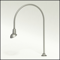 "Gooseneck Light Aluminum - 27.5"" W x 40.25"" H, Arm - with 7in. Emblem Shade"