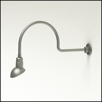 "Gooseneck Light Aluminum - 29.75"" W x 12"" H, Arm - with 7in. Emblem Shade"