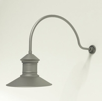 "Gooseneck Light Aluminum - 34"" x 3/4"" Dia. Arm with 16"" Barn Light Shade"