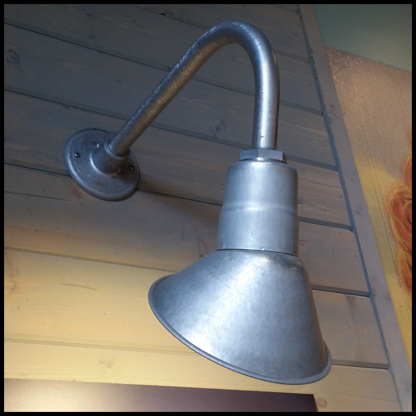 Gooseneck light aluminum 38 w arm with 10in angle shade click to enlarge aloadofball Images