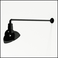 "Gooseneck Light Aluminum - 37.5"" W, Arm - with 12in. Emblem Shade"